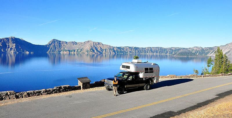 Crater Lake Oregon Avion truck camper