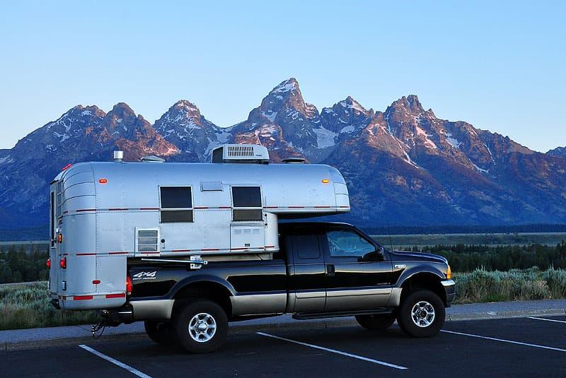 Dawn in Teton National Park in Wyoming