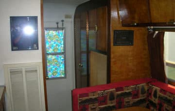 Closet and bathroom 1969 Avion C-11 camper