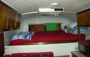 1969 Avion C-11 truck camper bedroom