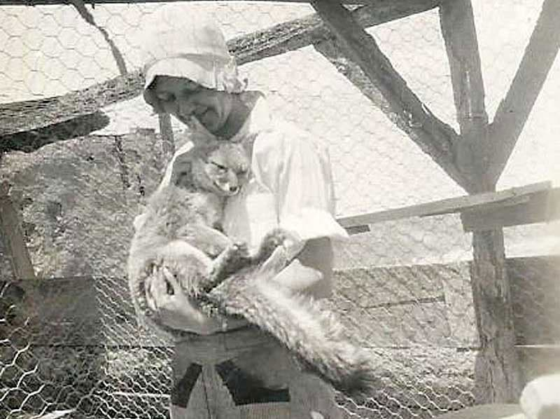 Marty in Holbrook, Arizona with a fox