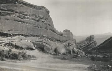 Red Rocks Concert Venue in Colorado 1931