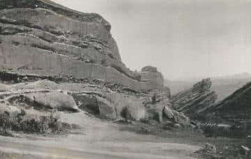 Red Rocks Concert Venue in Colorado 1931