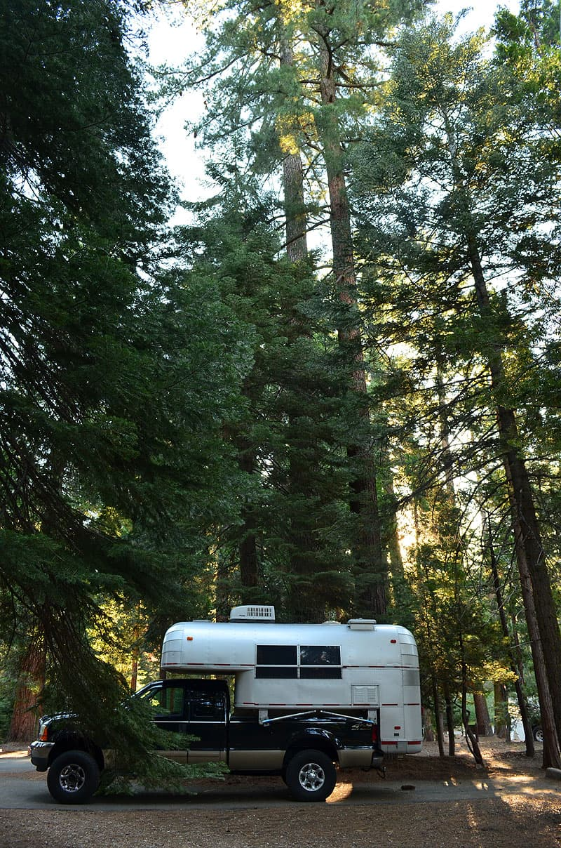 Sequoia National Park in California with an Avion truck camper