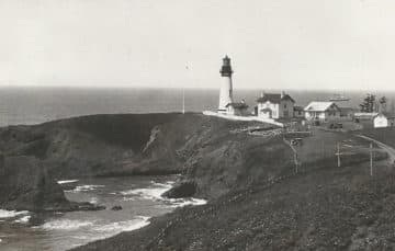 Yaquina lighthouse in 1931