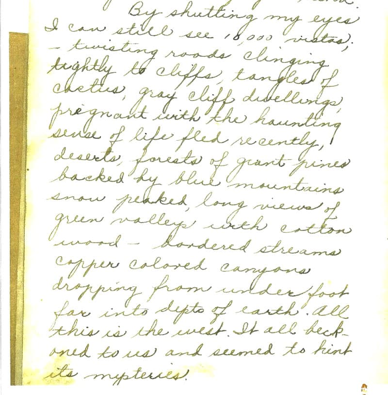Cross-country trip journal 1931