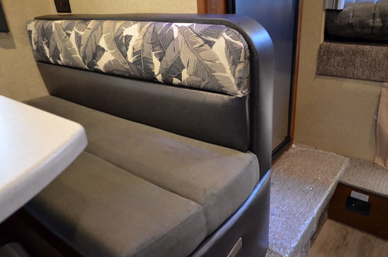 Cushions in dinette of Lance Camper