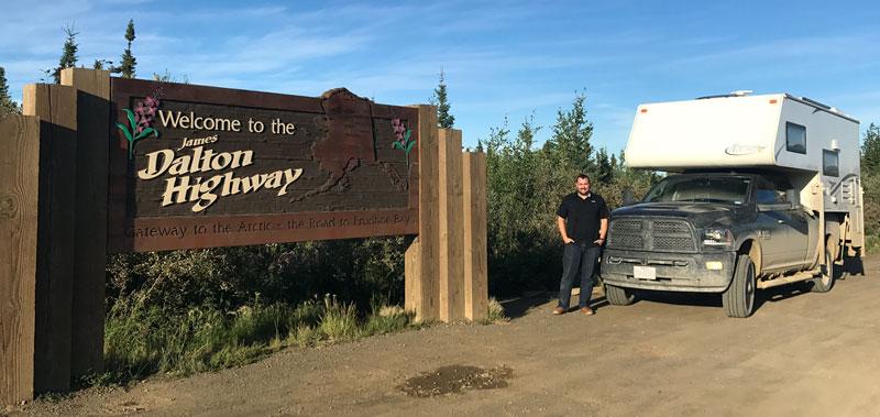 Dalton Highway Sign Northstar Camper