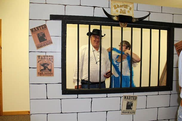 Jesse Wales and Taffy Garrette in jail, photo taken by Karen Parsons
