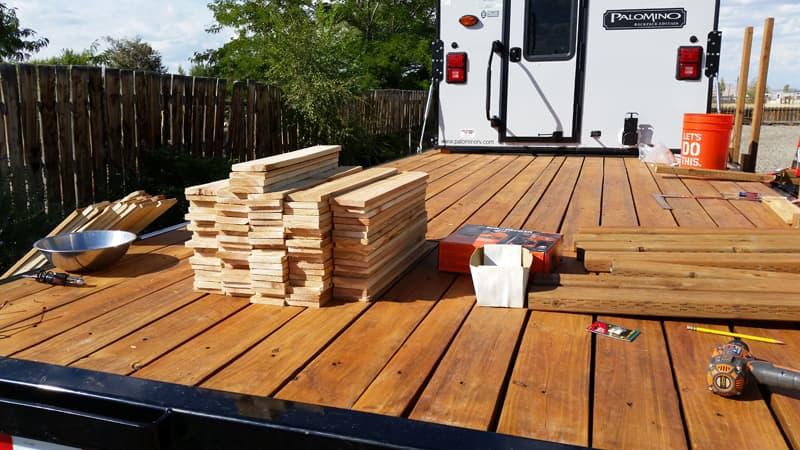 Deck Railing Begins