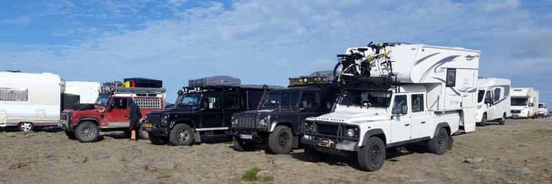 Defender Campers At Nordkapp