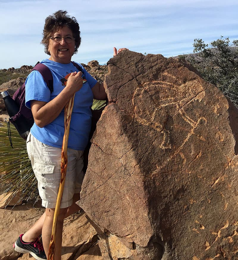 Petroglyphs in Deming, New Mexico