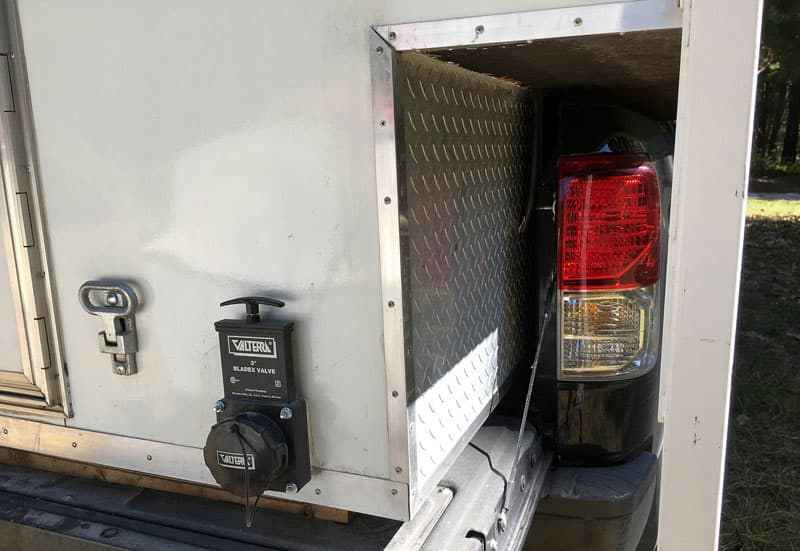 Diamond Plate Underbody Camper In Truck