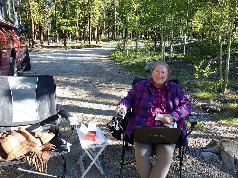 Diane's Mobile Office Camper, Colorado Rockies
