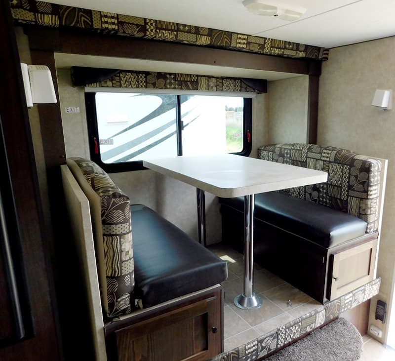 Dinette of a Polar 860 camper