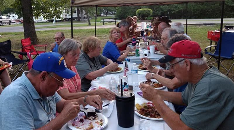 Dinner Potluck at Midwest Rally