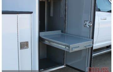 Douglass Truck Bodies storage tray