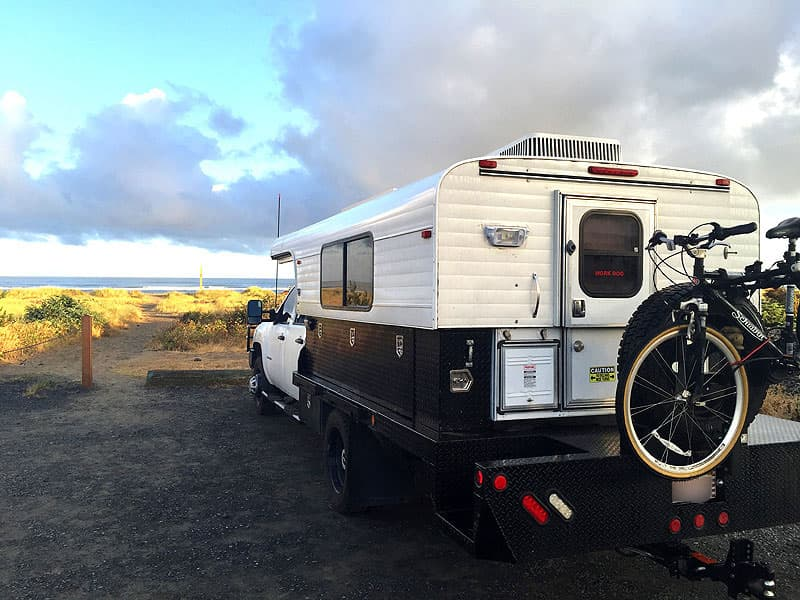 Alaskan Camper on the Pacific Coast