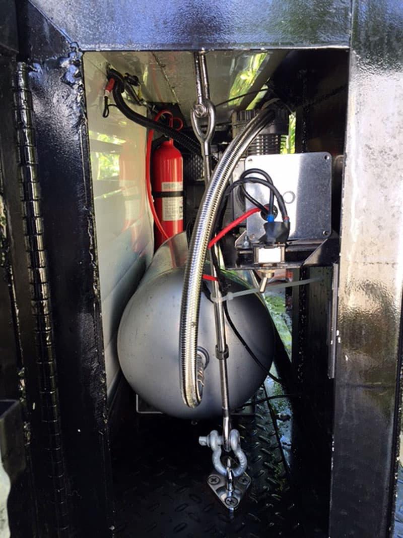 Air compressor and tank truck camper