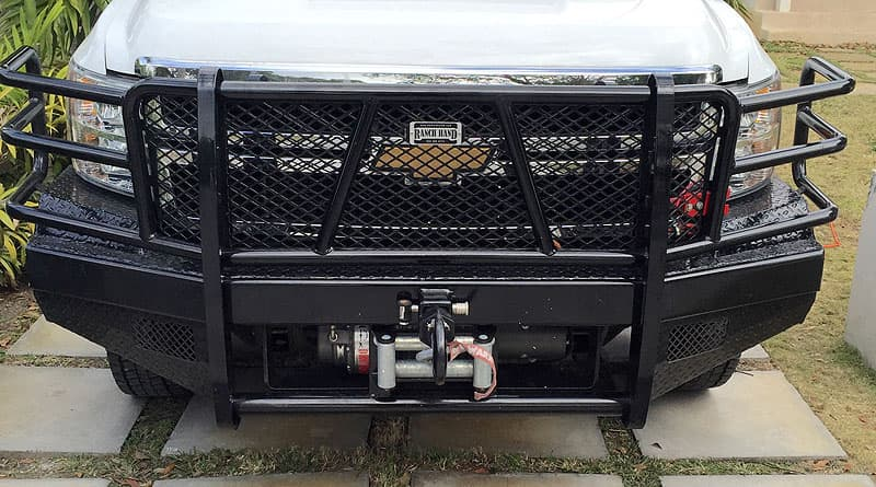 Ranch hand bumper with Warn winch