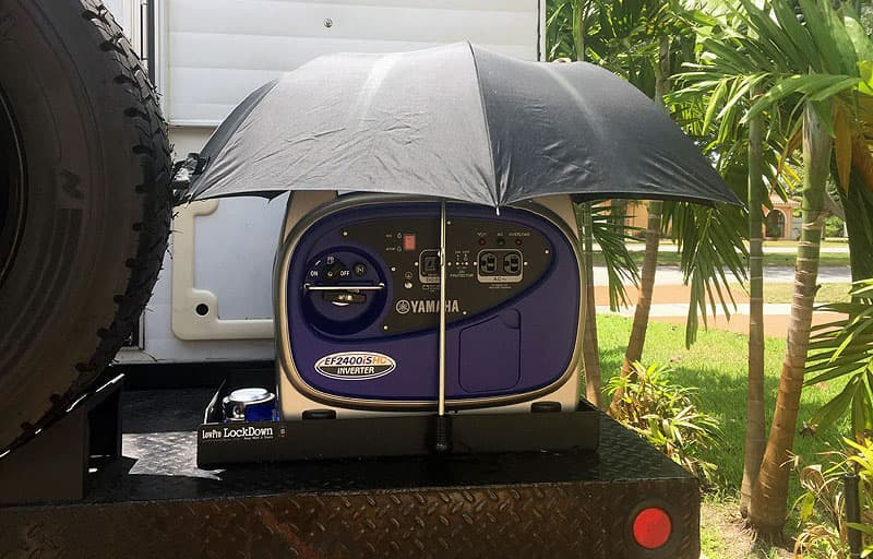 Generator with umbrella cover
