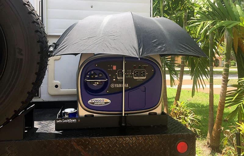Generator with umbrella cover