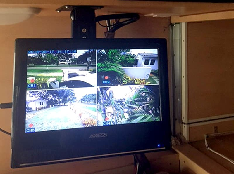 Security camera system from inside RV
