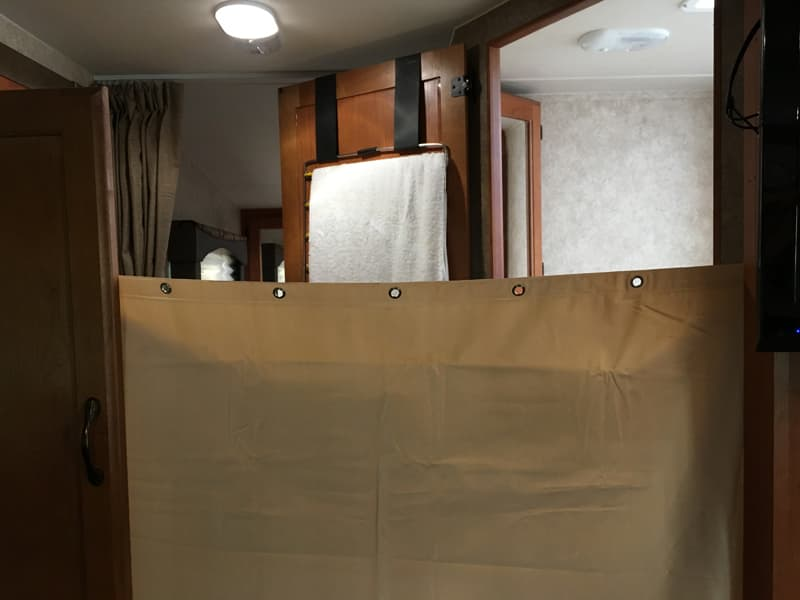 Dressing Room with Curtain