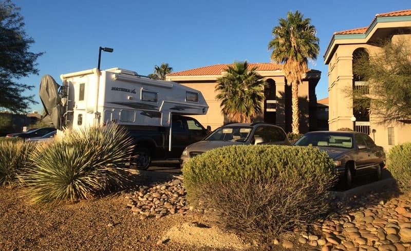 Driveway Camping Tucson Arizona