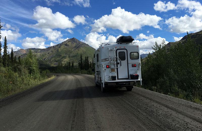 Driving Dempster Highway Bigfoot Camper