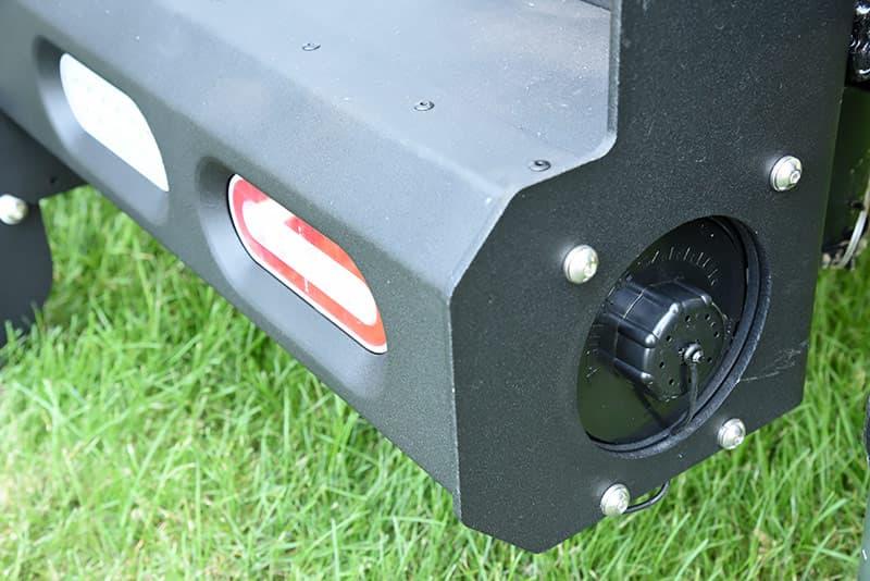 Sewer hose compartment in camper bumper