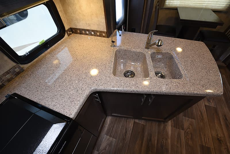 Eagle Cap 1200 kitchen counter and sink