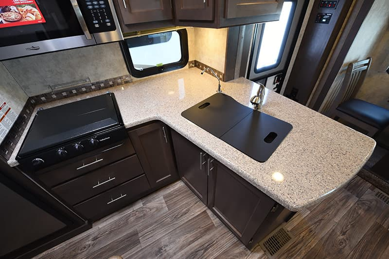 Eagle Cap 1200 kitchen peninsula
