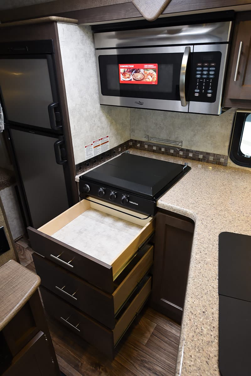 Eagle Cap 1200 drawers under kitchen range