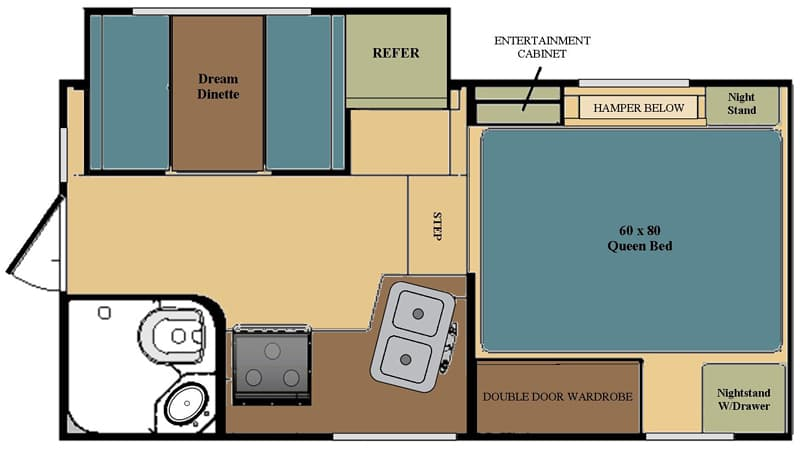 Eagle Cap 811 floor plan