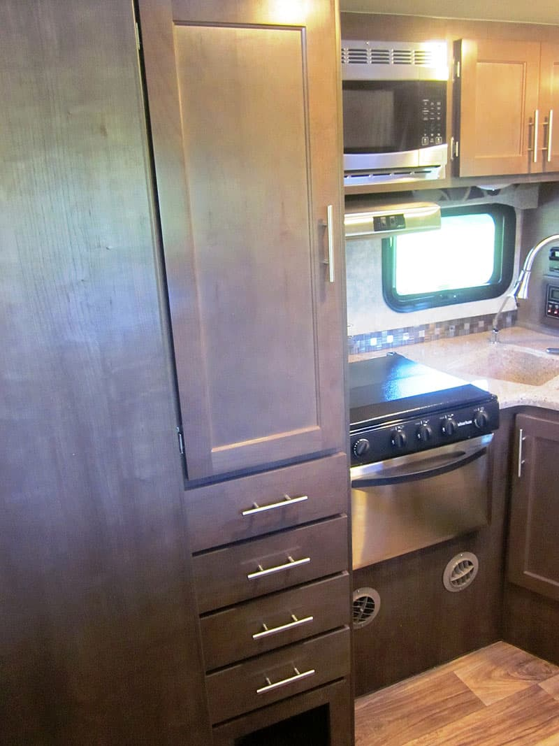Eagle Cap Campers with grey toned cabinetry