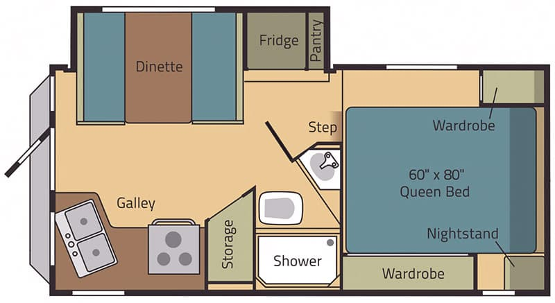 Eagle Cap 995 Floor Plan