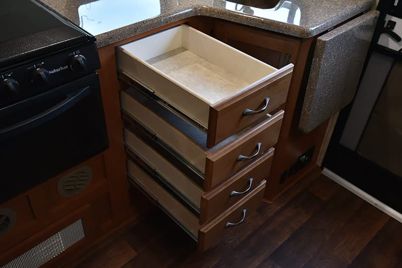 Eagle Cap 995 kitchen drawers