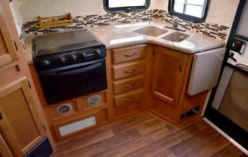Eagle Cap 995 lower kitchen cabinetry