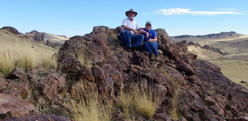 Brian and Chris in the eastern Oregon desert