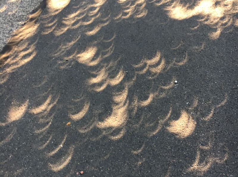 Eclipse images on the street
