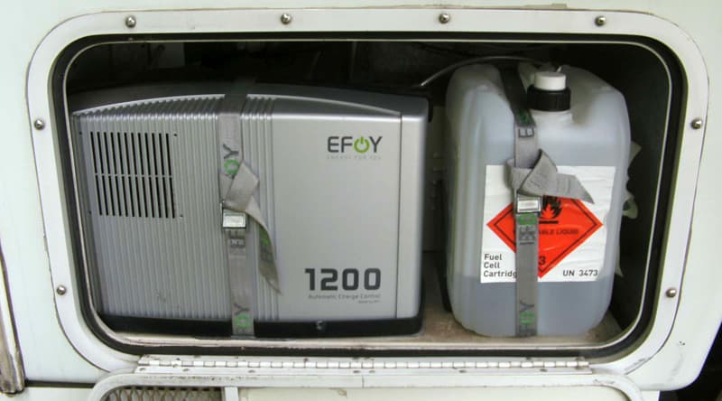 Efoy and fuel in Generator room