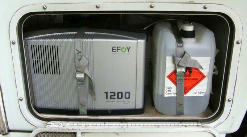 Efoy and fuel in Generator room