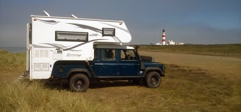 Going off-road in a Landrover Camper Rig