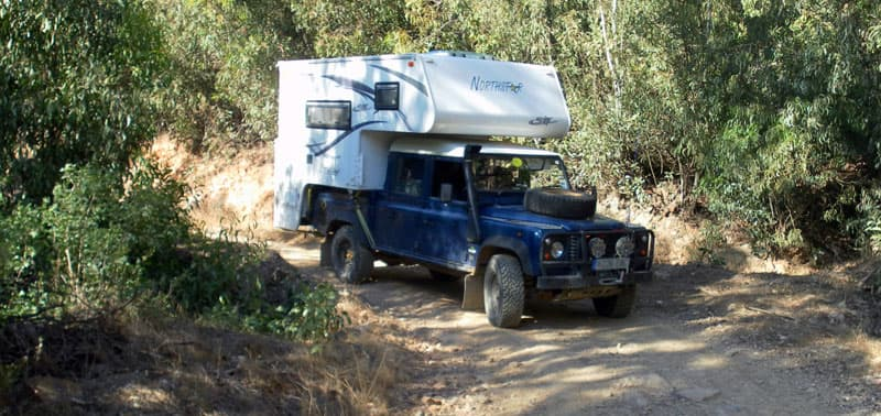Landrover and Northstar Camper in England