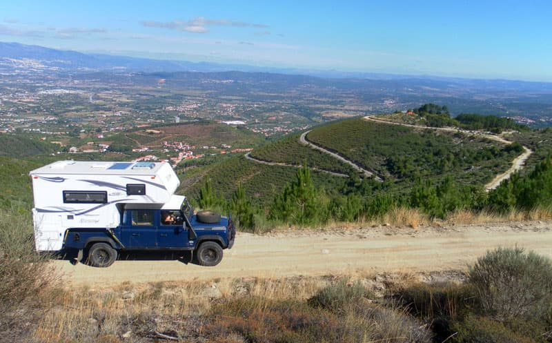 Landrover and Northstar Camper in Europe