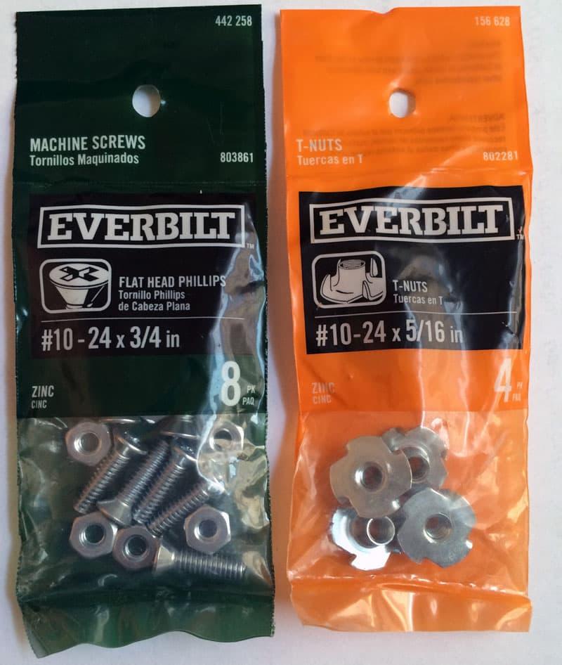 Everbuilt screws and nuts