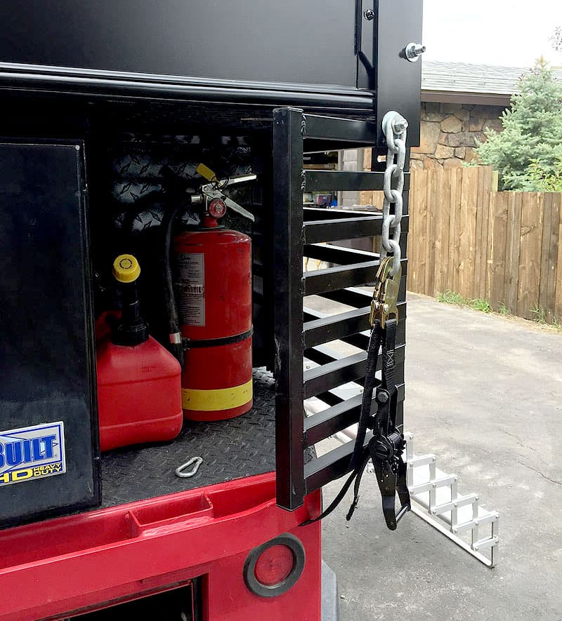 Ventilated storage on Ford truck