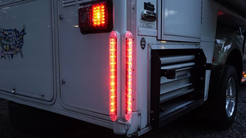 Extra Tail Lights on Chalet Camper