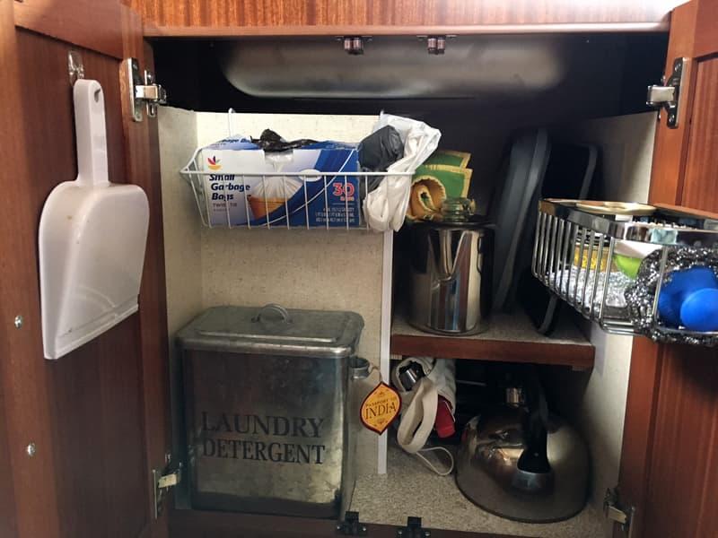 Storage solutions under Northern Lite sink
